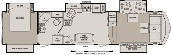 Redwood 36FL Floorplan