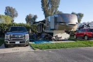 Our coach at Indian Waters RV Park in Indio, CA