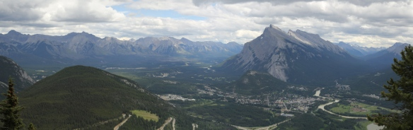 Banff and Bow River Valley from atop Mt Norquay