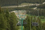 Looking down the Mt Norquay to the base station