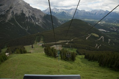 Mt Norquay chairlift from the top