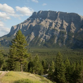 Mt Rundle and Bow River from the campground