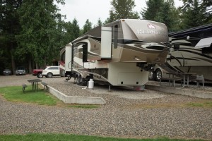 Our Redwood in site # 1 at Viewpoint RV Campground & Cottages just West of Salmon Arm