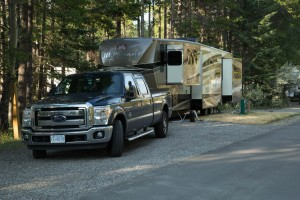 Our site at Banff Campground