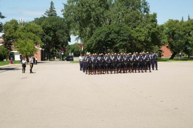 Cadets arriving on the Parade Ground