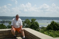 Andy at the Mississippi River scenic lookout on Hwy 52