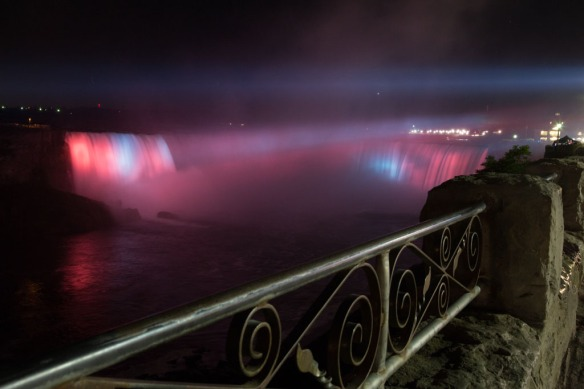 Canadian Falls at night 3