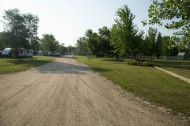 Entrance to Albert Lea KOA looking towards the office