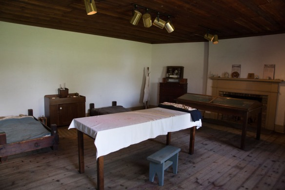 Fort Erie operating table and medical ward