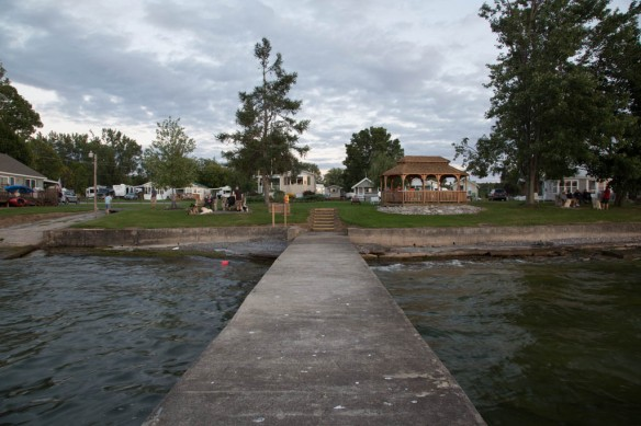 Looking at the campground from the dock