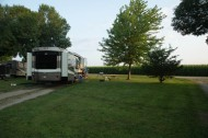 Lots of space between sites at Albert Lea KOA