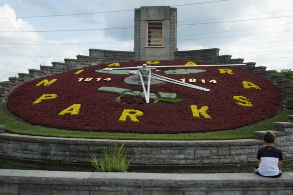 Niagara Parkway floral clock just downriver from the generating station