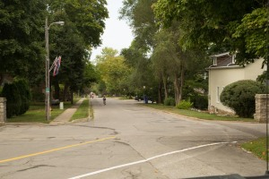 A quiet tree lined street in Queenston