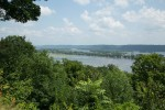 The mighty Mississippi River looking upstream from a lookout on Hwy 52