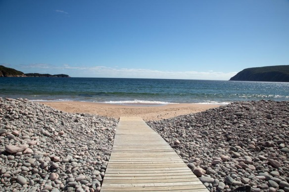 Boardwalk leading to Ingonish Beach