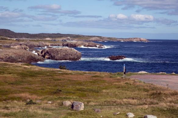 Cape Breton coastline from the base of Louisbourg lighthouse