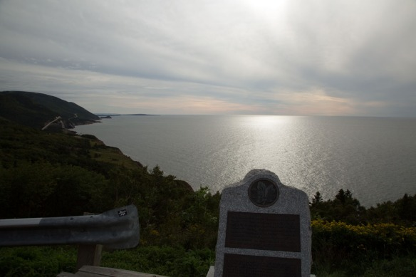 Cenotaph on the Cabot Trail just north of Cheticamp