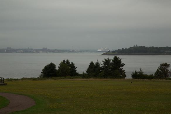 Charlottetown Harbour and cruise ship Veendam