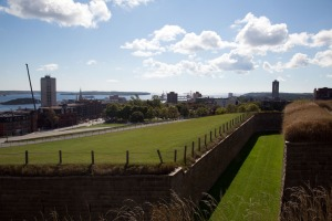 Halifax Fortress looking at the harbour entrance