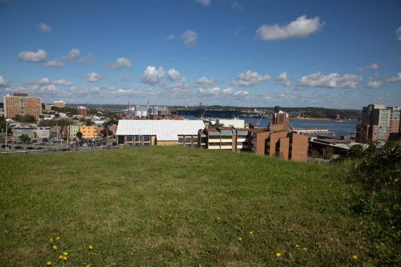 Halifax Fortress looking down the inlet from atop the ramparts