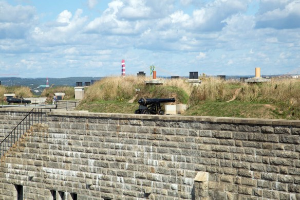 Halifax Fortress the cannon they fire at Noon
