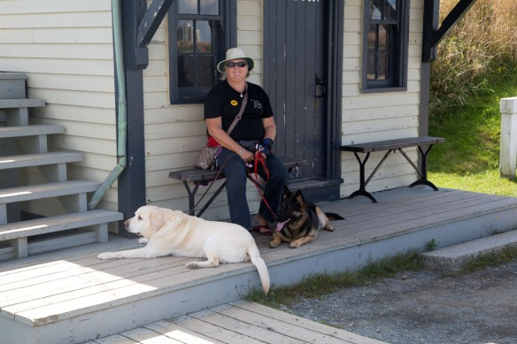 Halifax Fortress with Judi and dogs waiting for the Noon cannon