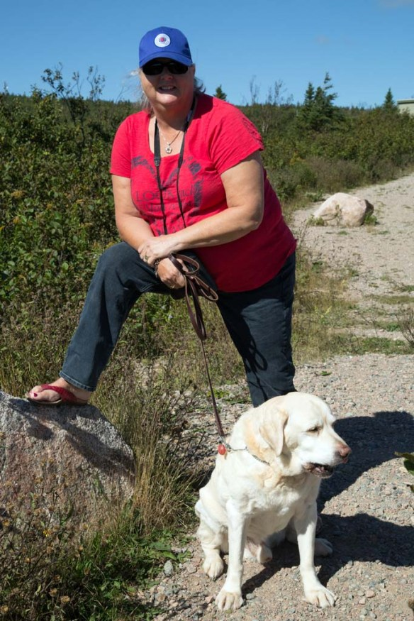 Judi and Duke at Cape Smokey Provincial Park