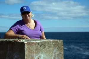 Judi at Louisbourg lighthouse point