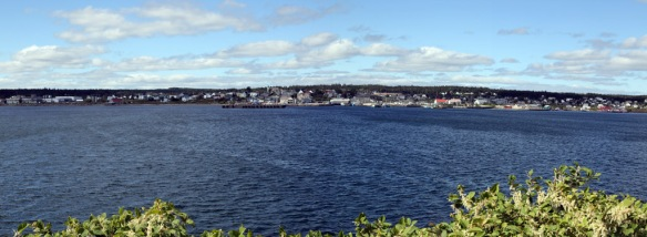 Louisbourg harbour wide angle