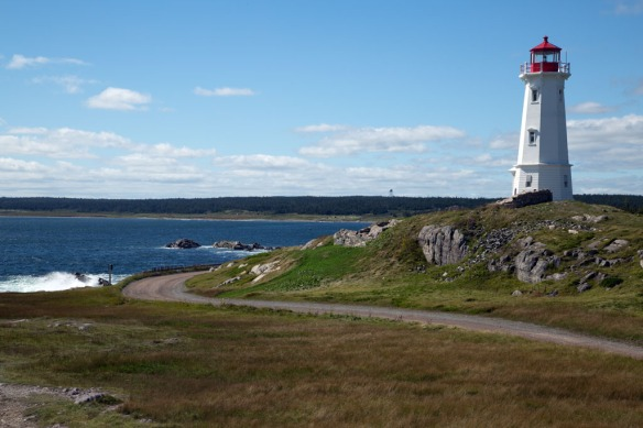 Louisbourg lighthouse and harbour entrance