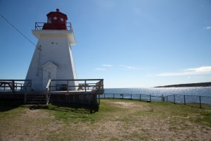 Neils Harbour Lighthouse looking out to sea