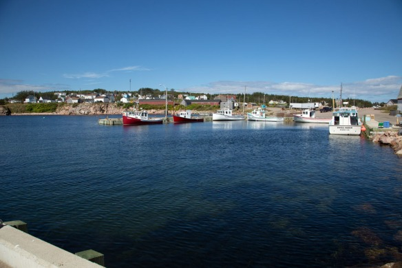 Neils Harbour village and fishing docks