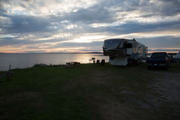 Our waterfront site at King Neptune Campground Peggs Cove 2