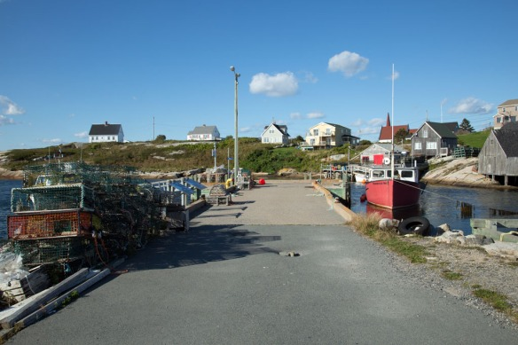 Peggys Cove fishing pier