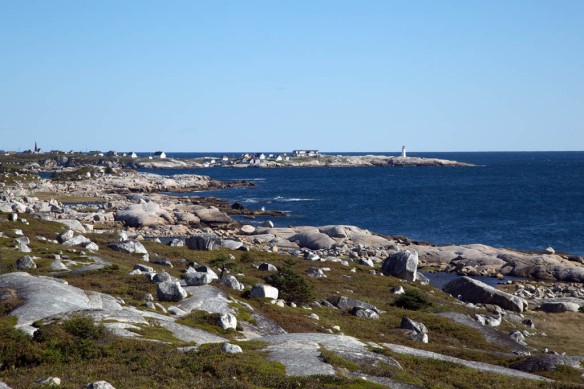 Peggys Cove from the Swissair Flight 111 memorial