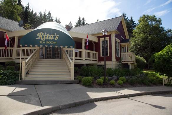 Rita's Tea Room entrance
