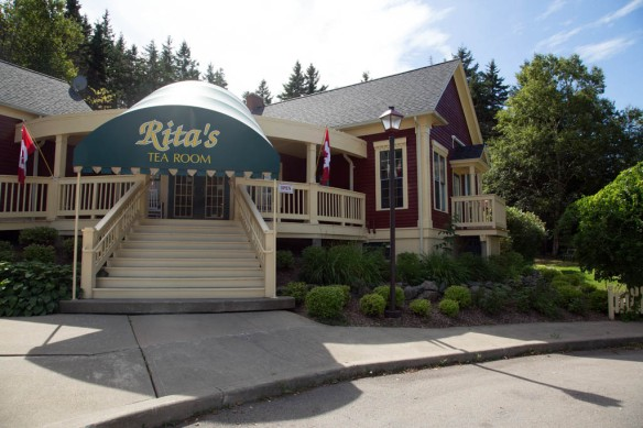 Rita's Tea Room entrance