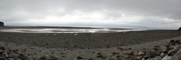 Alma Beach at low tide panorama 2