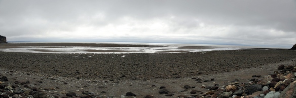 Alma Beach at low tide panorama 2