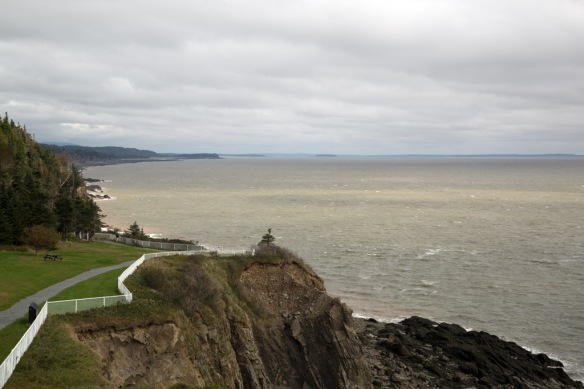 Bay of Fundy coastline from Cape Enrage Lighthouse