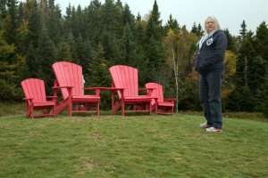 Bay of Fundy lookout with Andirondak chairs to enjoy the view