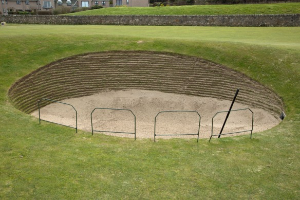 Infamous road hole bunker at 17th green