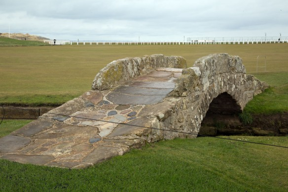 The original bridge over the Swilken Brn on the 18th fairway