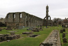 15 St Andrews Cathedral ruins showing thickness of walls