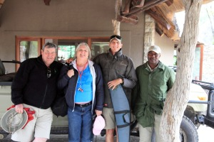Andy, Judi, Ranger Cedric and Tracker Derek close-up