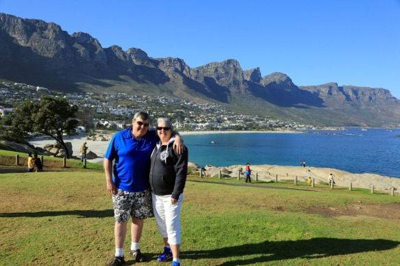 Andy & Judi with Camps Bay and 12 Apostles in the background