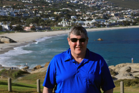 Andy with Camps Bay in the background