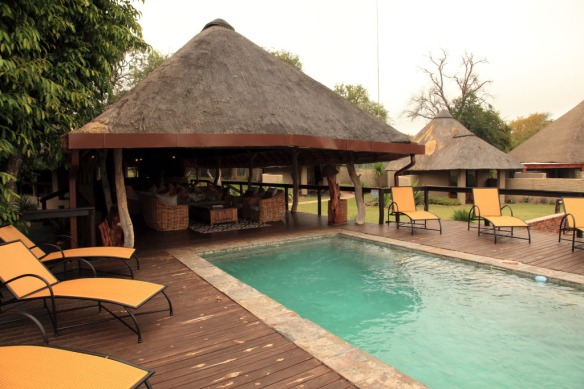 View of pool and lounge
