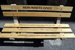 Bench displayed in front of old high court building on Queen Victoria Street 2