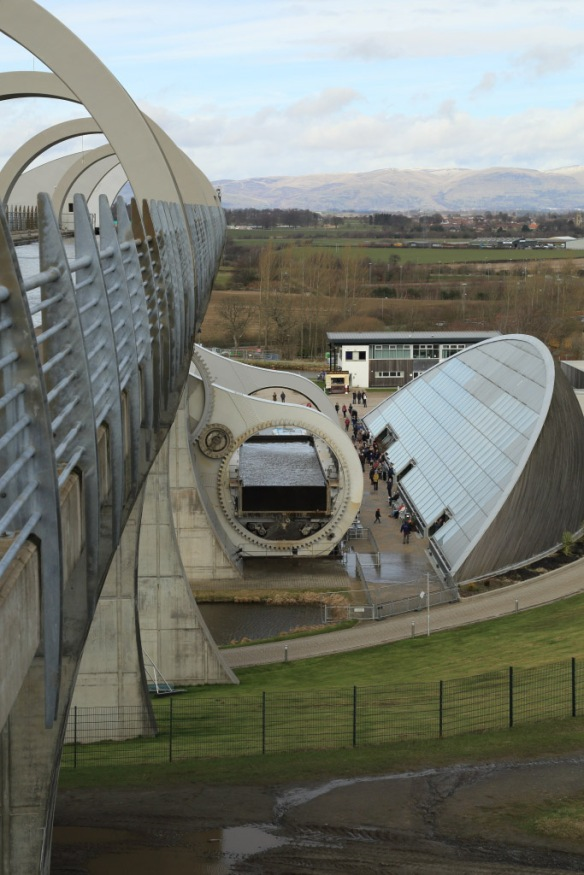 Falkirk Wheel In Operation